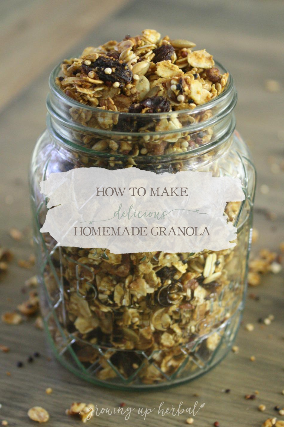 How To Make Delicious Homemade Granola | Growing Up Herbal | Make breakfast easy and healthy with this delicious homemade granola recipe!