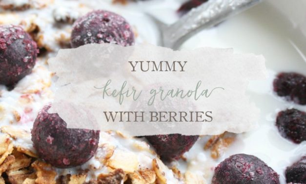 Yummy Kefir Granola with Berries