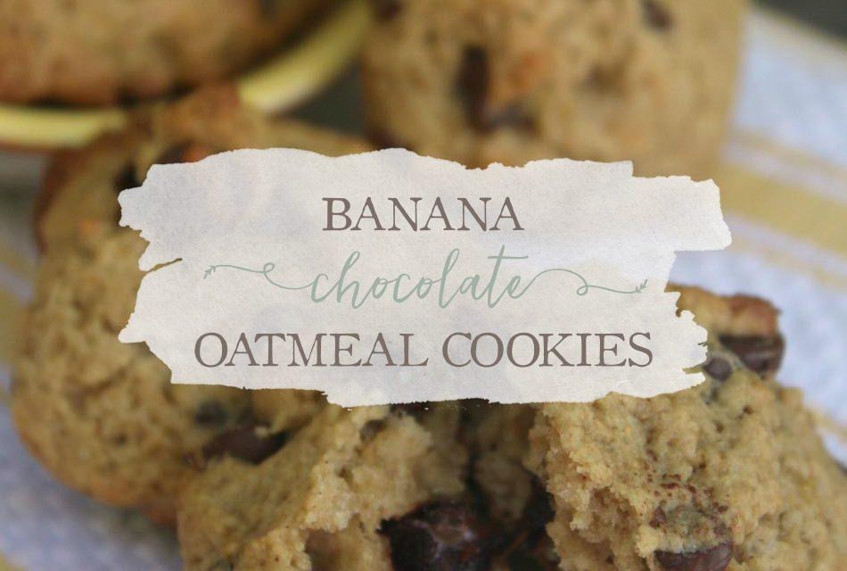 Banana Chocolate Oatmeal Cookies (With A Sugar-Free Option)
