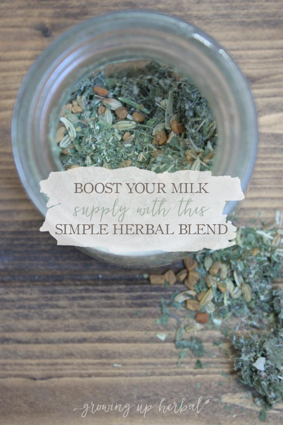How To Boost Your Milk Supply With This Simple Herbal Blend | Growing Up Herbal | If you're a nursing mama and looking for a natural way to boost your milk supply, this herbal blend may be just the thing to help you and your milk supply.