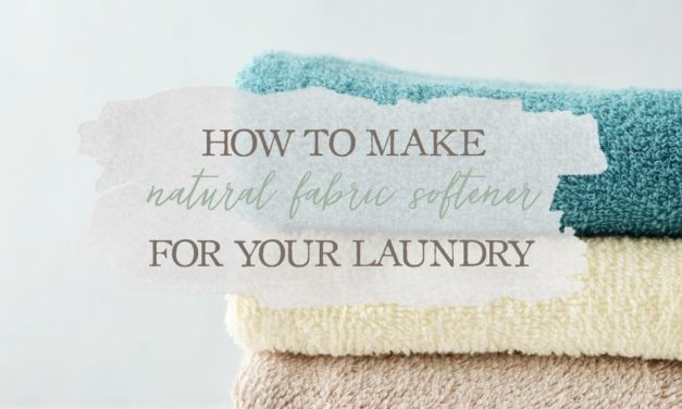 How To Make Natural Fabric Softener For Your Laundry