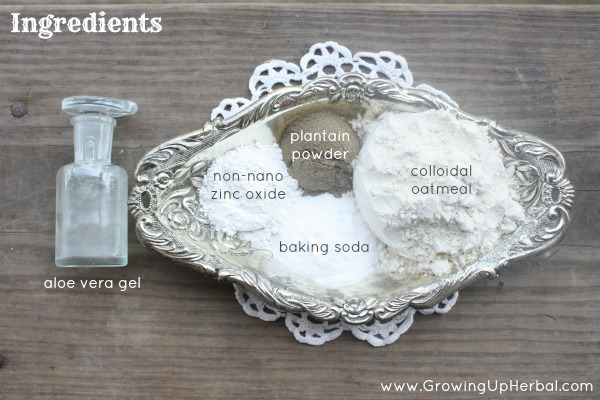 anti-itch oatmeal paste ingredients