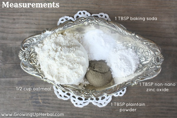 anti-itch oatmeal paste measurements