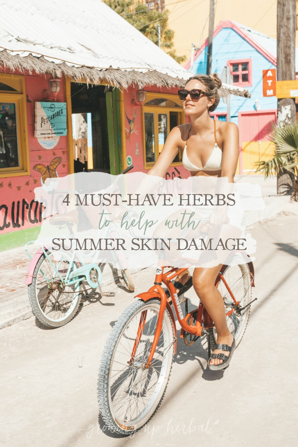 4 Must-Have Herbs to Help with Summer Skin Damage | Growing Up Herbal | Looking for help for sun damaged skin this summer? Here are four herbs that can come to your rescue!