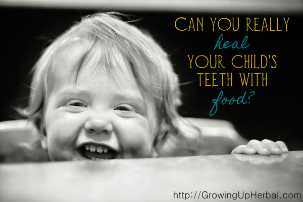 heal your child's teeth with food