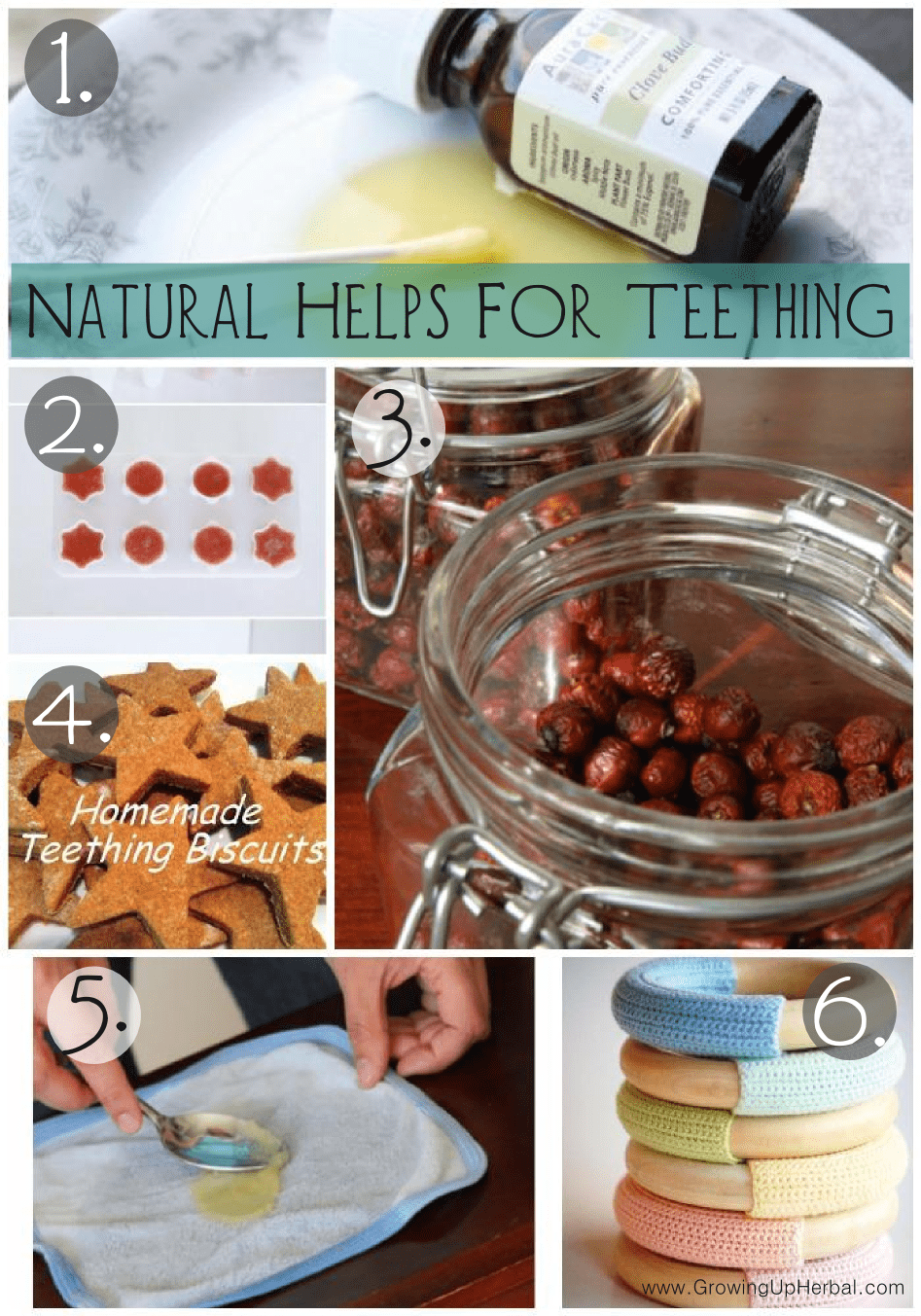teething remedies collage
