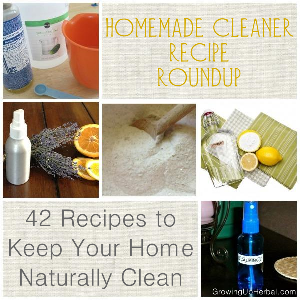 42 diy recipes to keep your home naturally cleangrowing up herbal - Home made cleaning products ...