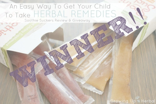 Soothie Suckers Giveaway Winners Announced