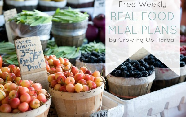 Free Weekly Real Food Meal Plan: March 23-29