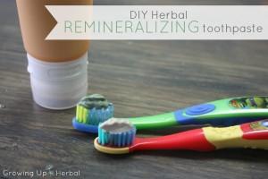 DIY Herbal Remineralizing Toothpaste   GrowingUpHerbal.com - a OOAK remineralizing toothpaste using herbs