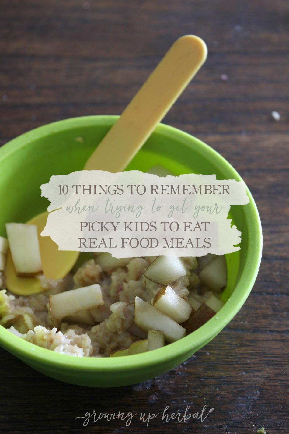 10 Things To Remember When Trying To Get Your Picky Kids To Eat Real Food Meals | Growing Up Herbal | 10 tips for dealing with picky kids over eating healthy foods!