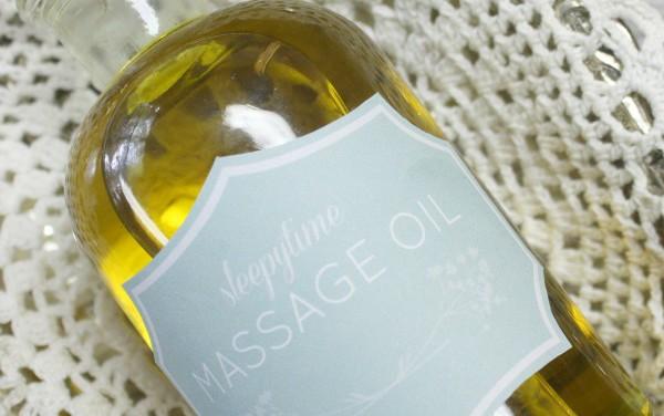 DIY: Sleepytime Massage Oil For Babies and Children