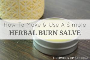 How To Make And Use A Simple Herbal Burn Salve | GrowingUpHerbal.com