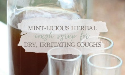 Mint-licious Herbal Cough Syrup For Dry, Irritating Coughs