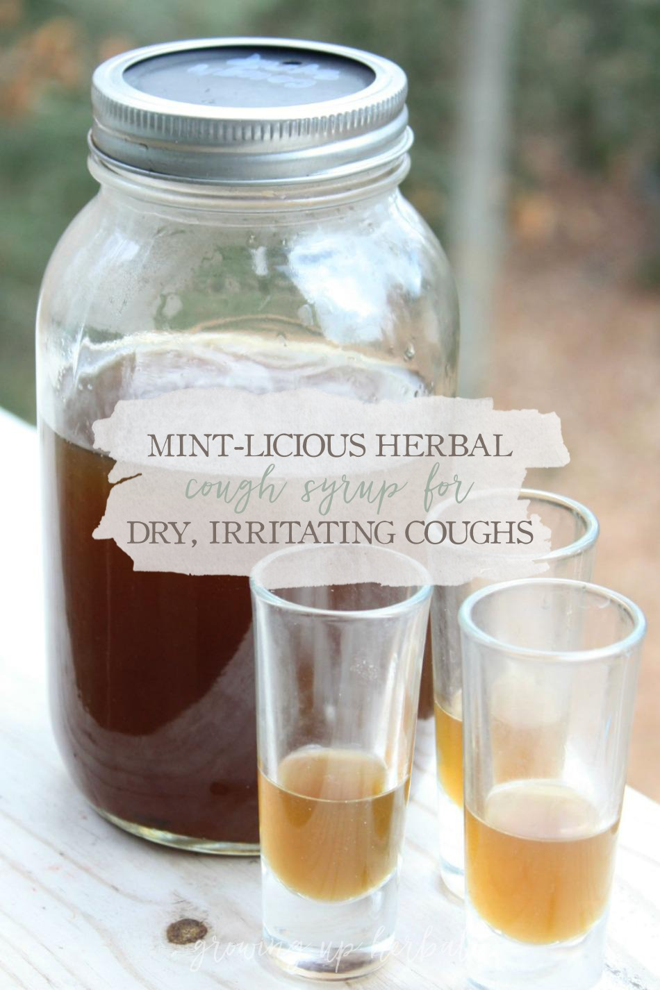 Mint-licious Herbal Cough Syrup Recipe | Growing Up Herbal | A minty herbal cough syrup for dry, irritating coughs.