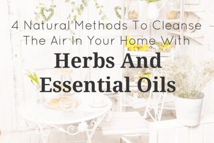 4 Natural Methods To Cleanse The Air In Your Home With Herbs And Essential Oils | GrowingUpHerbal.com | Decrease your chances of picking up a virus by cleansing the air in your home.