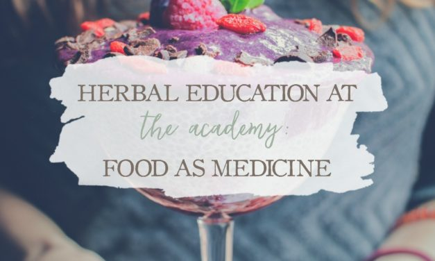 Herbal Education At The Academy: Food As Medicine