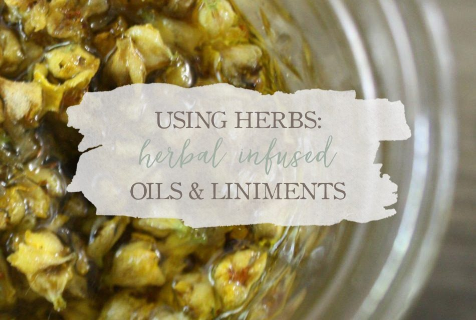 Using Herbs: Herbal Infused Oils and Liniments