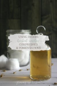 Using Herbs: Herbal Washes, Compresses, and Fomentations | Growing Up Herbal | Learn the many ways to use herbal washes as well as the difference in a compress and fomentation, and how to make each one.