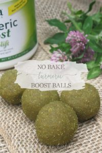 No Bake Turmeric Boost Balls | Growing Up Herbal | My kids LOVE these easy to make herbal cookies that require NO baking!