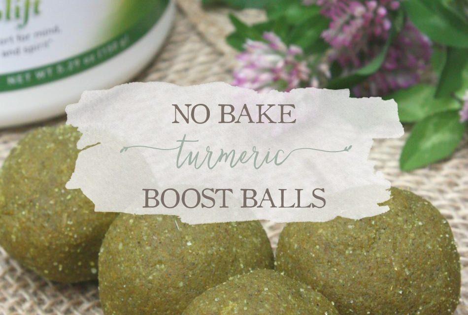 No Bake Turmeric Boost Balls