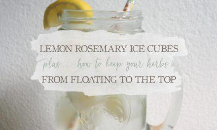 Lemon Rosemary Ice Cubes