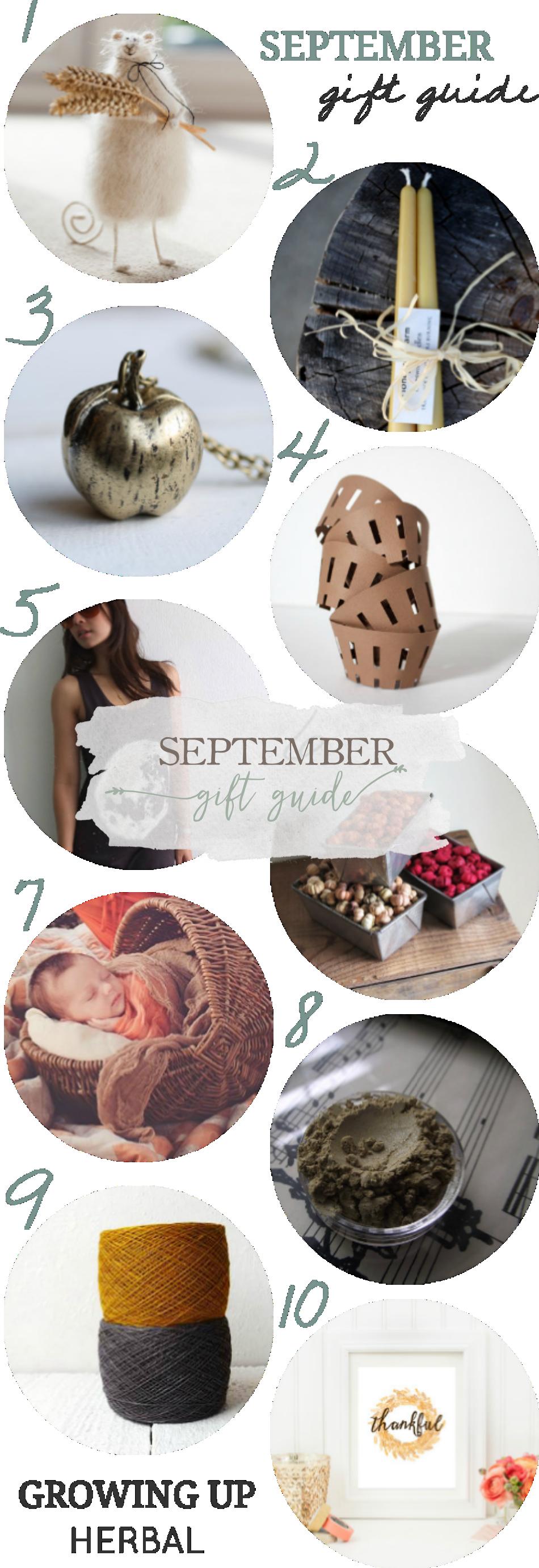 A Gift Guide For September