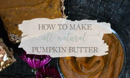 How To Make All Natural Pumpkin Butter