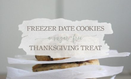 Freezer Date Cookies: A Sugar-Free Thanksgiving Treat