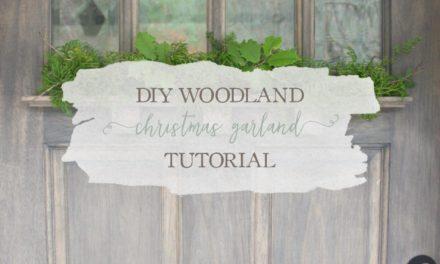 DIY Woodland Christmas Garland Tutorial