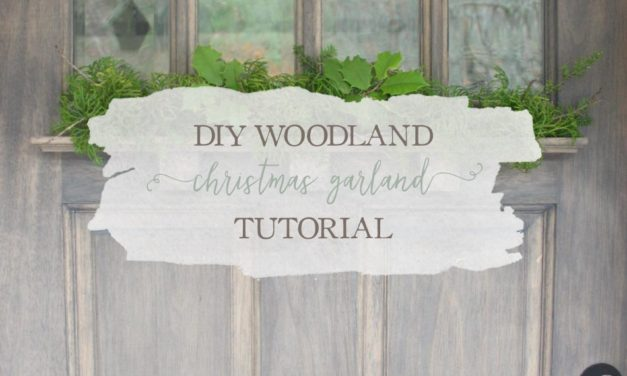 DIY Woodland Christmas Garland Tutorial