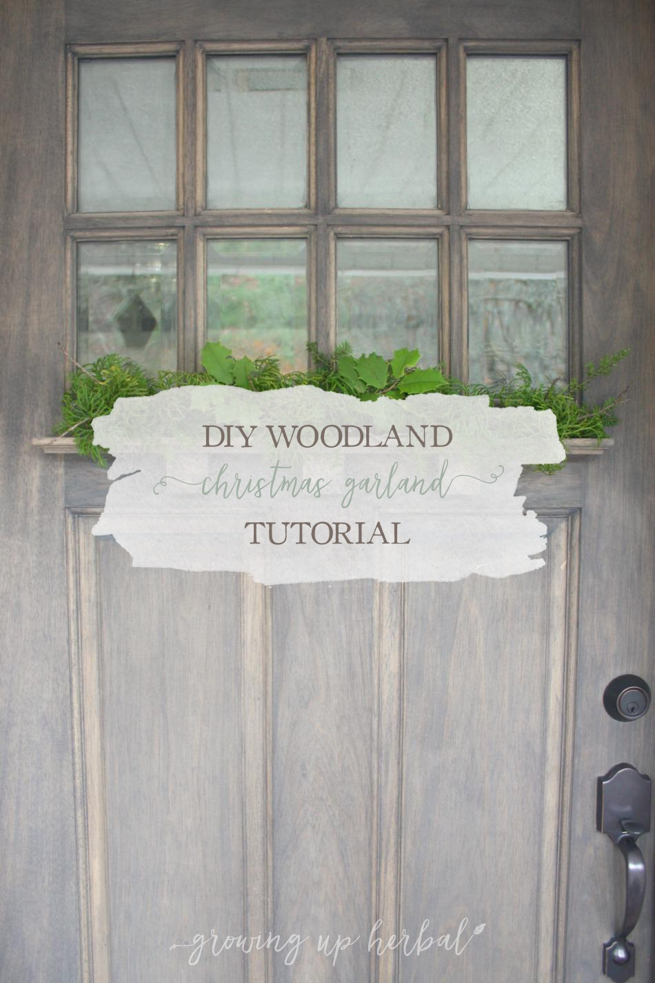 Diy Woodland Christmas Garland Tutorial Growing Up Herbal