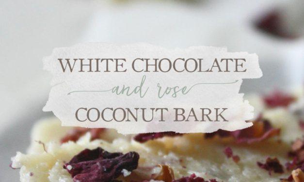 White Chocolate & Rose Coconut Bark