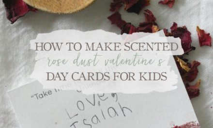 How To Make Scented Rose Dust Valentine's Day Cards For Kids
