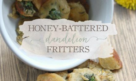 Honey-Battered Dandelion Fritters