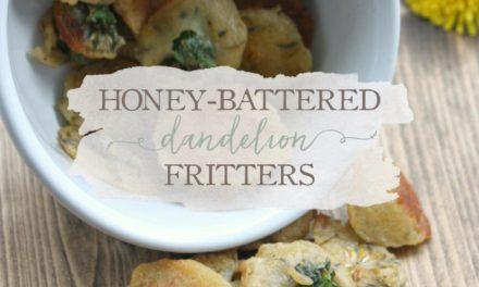 Honey-Battered Dandelion Fritters