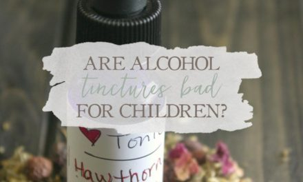 Are Alcohol Tinctures Bad For Children?