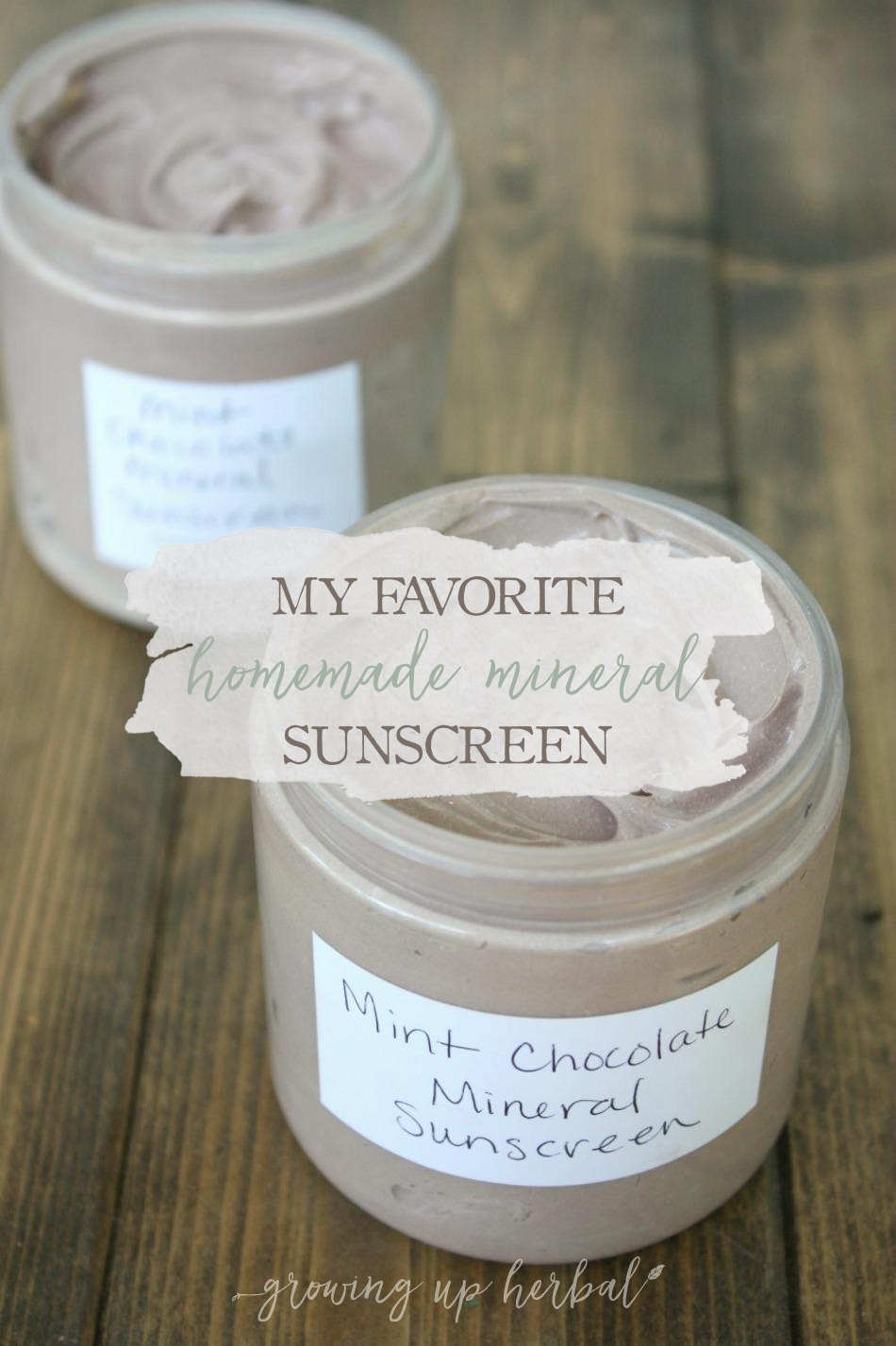 My Favorite Homemade Mineral Sunscreen