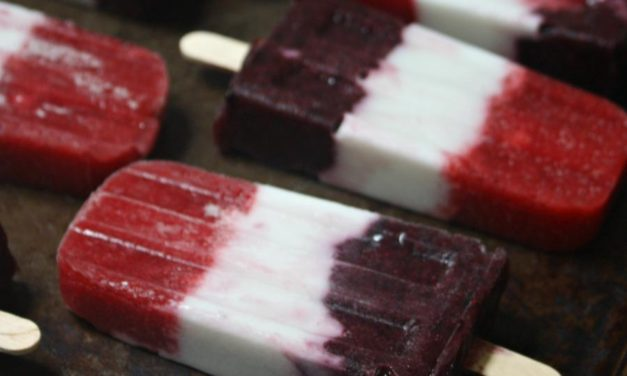 Fourth of July Herbal Patriotic Popsicles (Sugar-Free)
