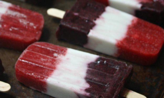Fourth of July Herbal Patriotic Popsicles (Sugar-Free)