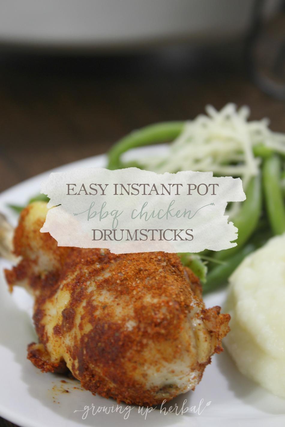 Easy Instant Pot BBQ Chicken Drumsticks