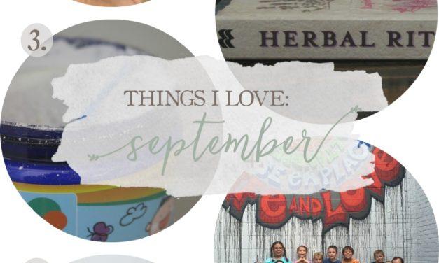 Things I Love: September 2016