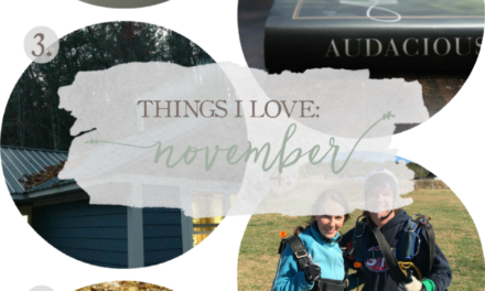 Things I Love: November 2016