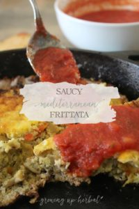 Saucy Mediterranean Frittata: A Savory Dish For Any Meal Of The Day | Growing Up Herbal | Enjoy this deliciously healthy egg-based recipe any time of the day. It's quick and easy to make. Perfect for busy mamas!