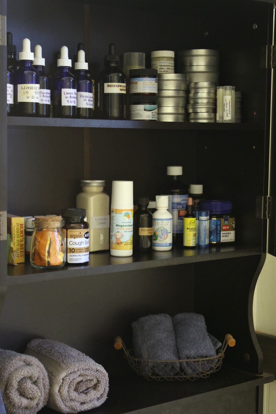 A Sneak Peek Inside My Natural Medicine Cabinet   Growing Up Herbal   Come see what natural remedies I keep stocked in my home for first aid situations and other everyday ailments.