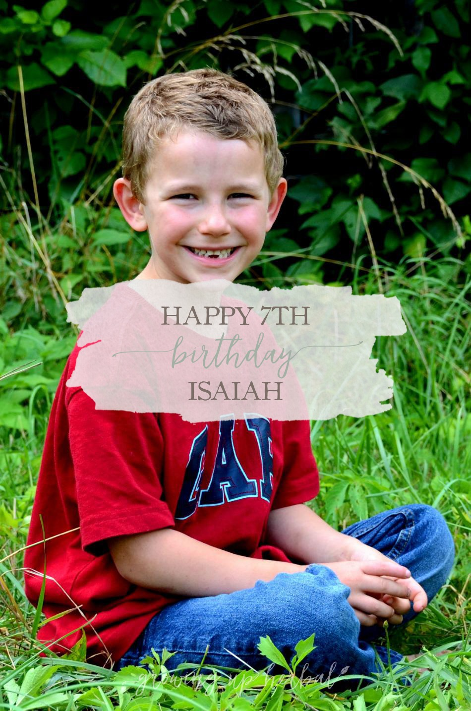 Happy 7th Birthday Isaiah | Growing Up Herbal | Today is Isaiah's 7th birthday, and I'm sharing some photos of him over the years!