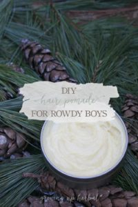 DIY Hair Pomade For Rowdy Boys | Growing Up Herbal | Get this recipe for all-natural homemade hair pomade for medium and firm hold. Your favorite guy will love it!