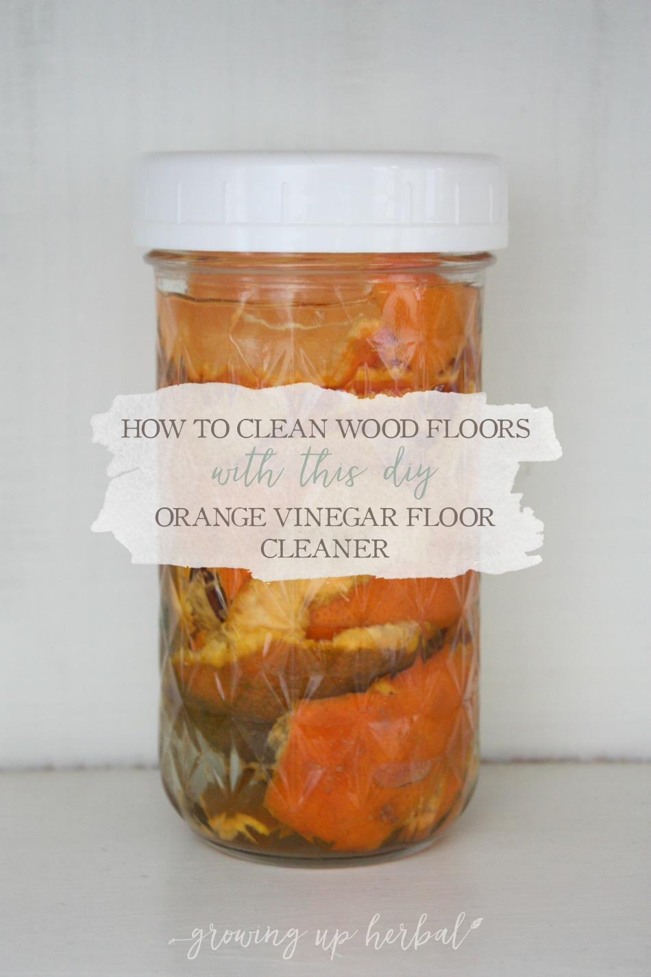 How To Make A Natural Cleaner For Your Floors | Growing Up Herbal | Looking for a natural way to clean your floors? Try this easy natural floor cleaner and see what you think!
