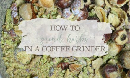 How To Grind Herbs In A Coffee Grinder