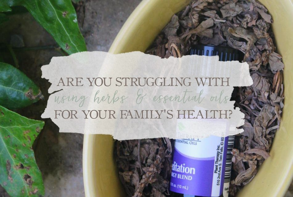 Are You Struggling With Using Herbs And Essential Oils For Your Family's Health?